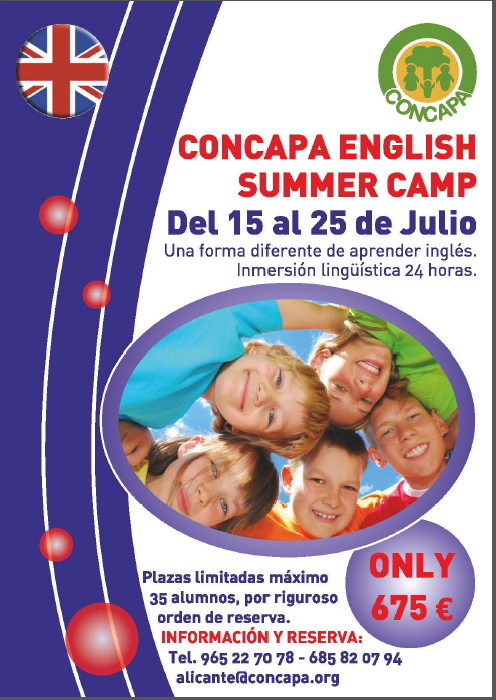 "Campamento ""CONCAPA SUMMER CAMP"""