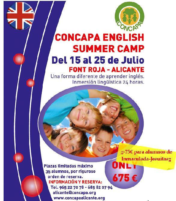 Campamento de verano en inglés en La Font Roja