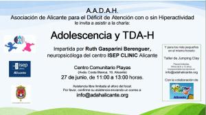 Charla: La adolescencia y TDA-H