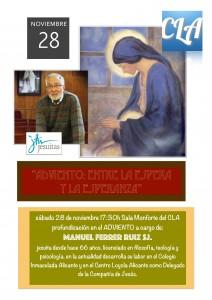 """28 de noviembre: """"Adviento: entre la espera y la esperanza"""" por Manuel Ferrer sj."""