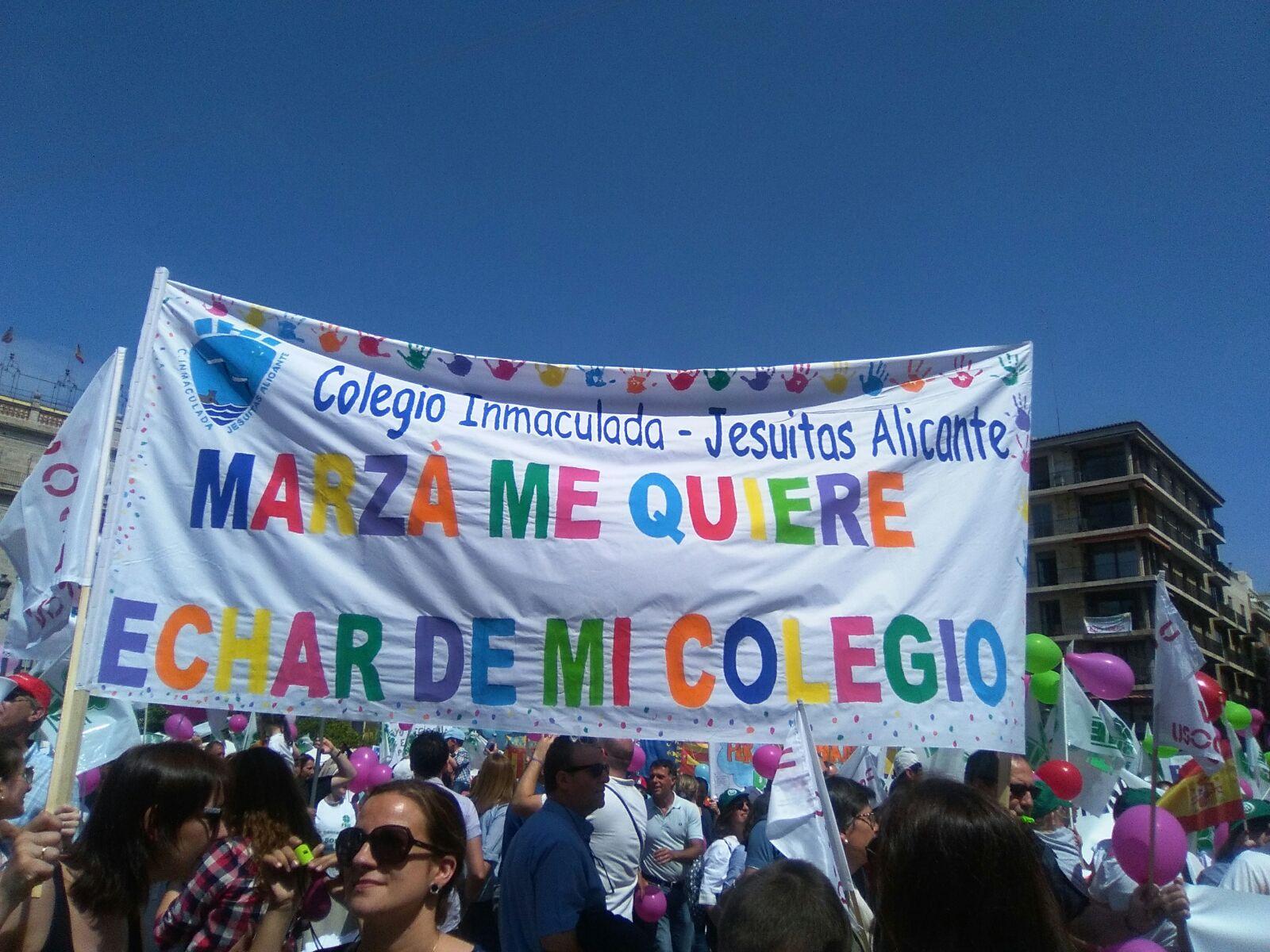 La defensa de la enseñanza concertada, también en Valencia