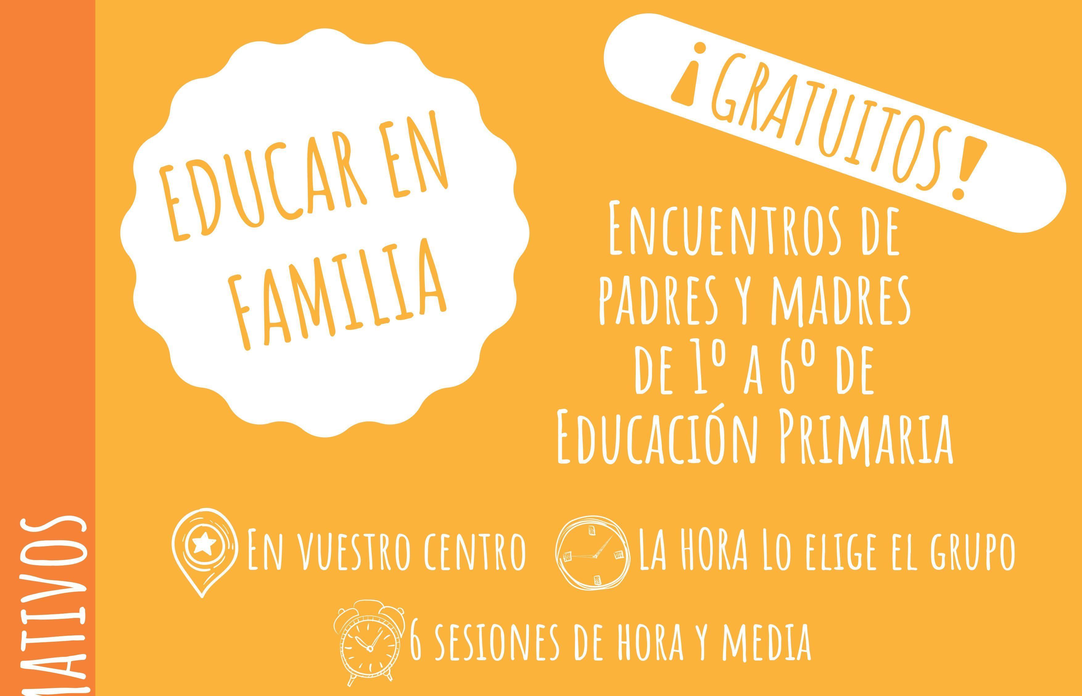 Apúntate a los Grupos Formativos para Padres y Madres que organiza el Ayuntamiento