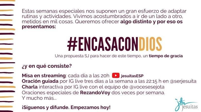 #EnCasaConDios: La propuesta distinta de los jesuitas para este tiempo de convivencia familiar