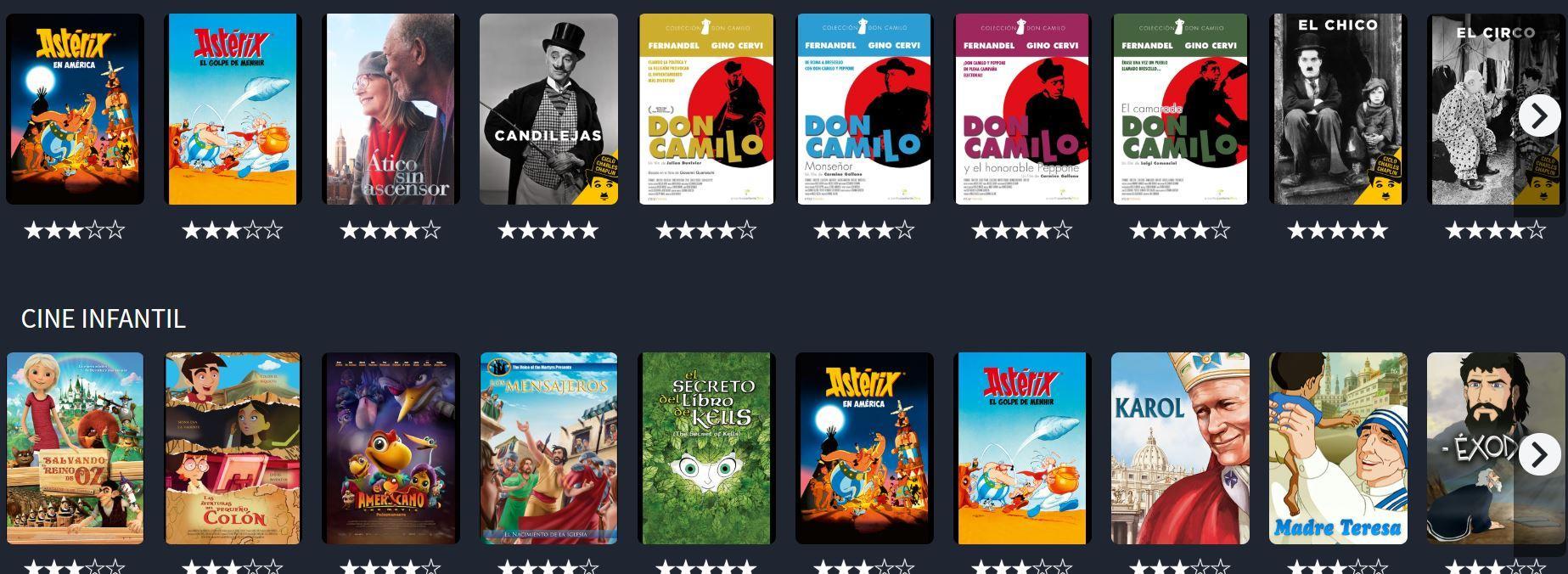 Plataforma para ver películas online para toda la familia