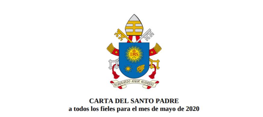 Carta del Papa para el mes de mayo