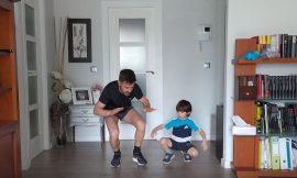 Gimnasia para niños en casa